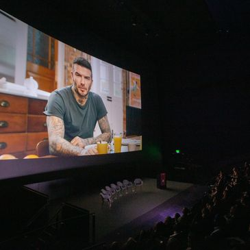 David Beckham gives a virtual address to the audience