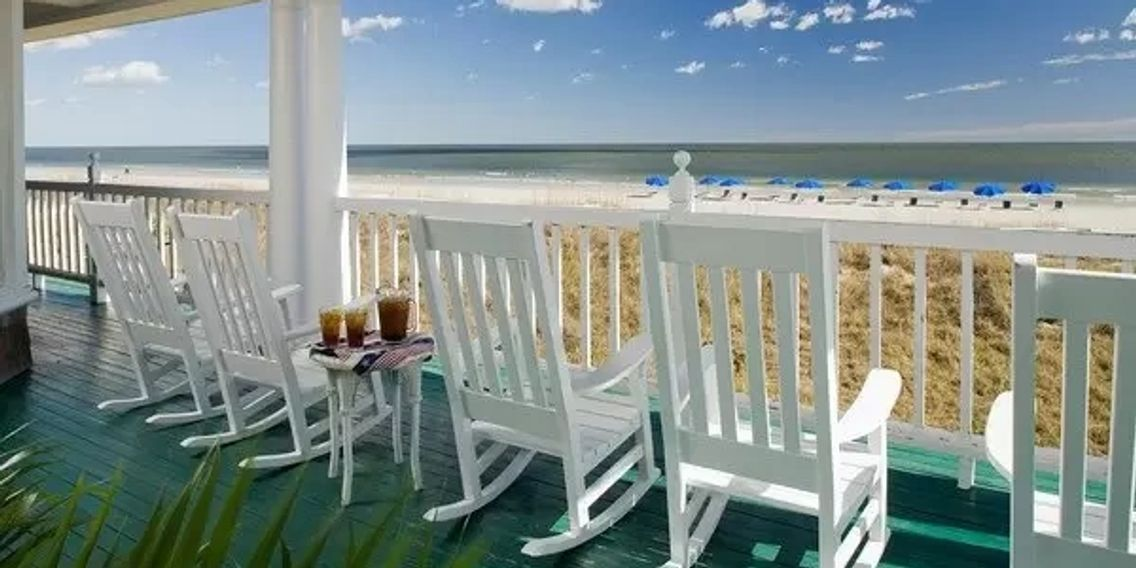 Sweet tea on a southern porch inn amelia island florida travel hotel bed