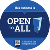 Open to All Business Badge