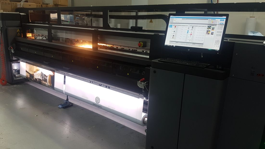 One of our HP 3100 latex printers.
