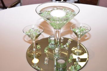 Centerpieces are customized for your event.