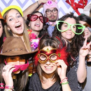 Having a photo booth gives you a good excuse to be silly and let loose for a while. We provide all sorts of prop hats, glasses, boas and signs to help make your pictures even funnier.