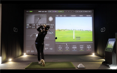 in-home golf simulator home golf sim