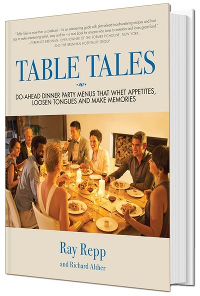 Inside TABLE TALES are 15 do-ahead dinner party menus, so hosts can enjoy their guests.