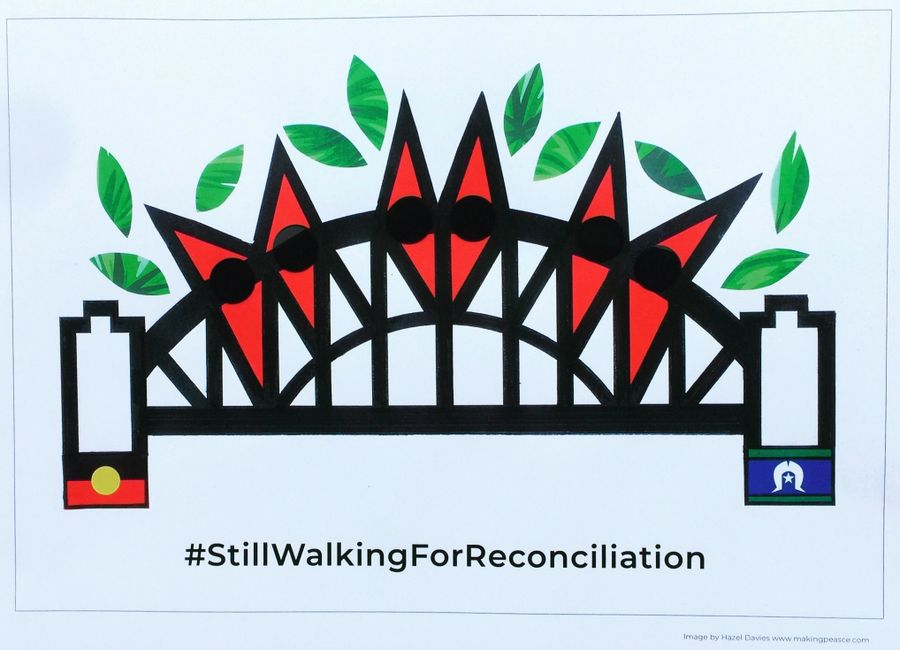 Reconciliation day harbour bridge walk original art reconciliation week walking for reconciliation