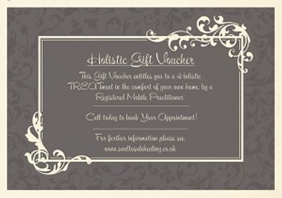 Soul to Sole Healing's Holistic Gift voucher