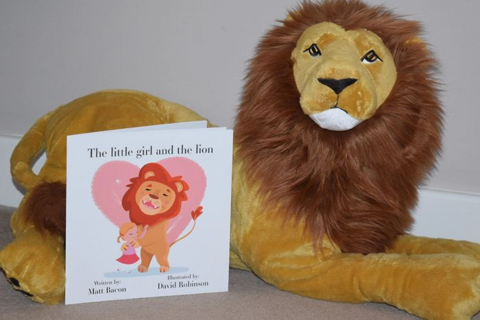 The little girl and the lion book