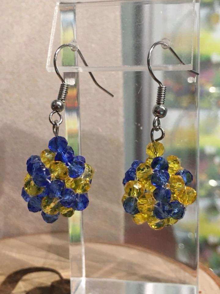 Placid Color Crystal Earrings