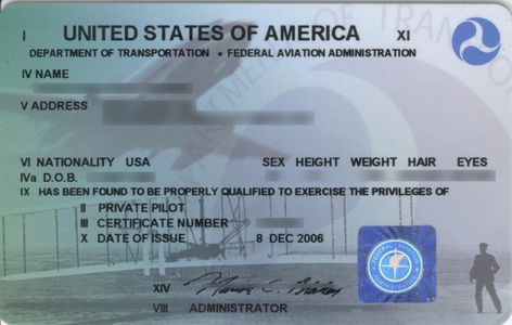 The US Airmans Certificate