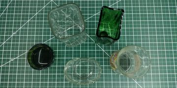 Cut Square and Odd Shaped Bottles