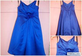 Blue flowergirl dress