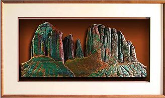 Cathedral Rock, Sedona- framed limited edition of handmade paper sculptures