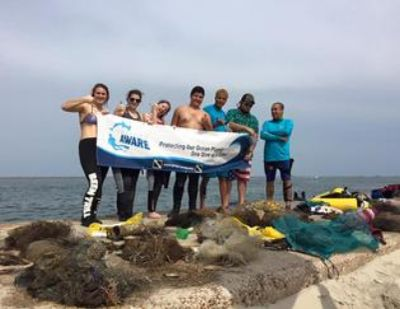 Over 130 pounds of deadly marine debris was removed by volunteer divers.
