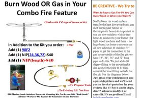 EasyFirePits.com can help you build combination gas fire pits that are also wood burning capable.