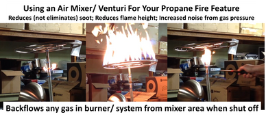 Air Mixers are not always suggested to amateurs when building a gas fire feature. know the risks.