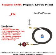 EasyFirePits.com CK Basic LP DIY Gas Fire Pit Kit w/ Flame On/ Off/ Intensity Control at the Tank