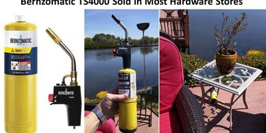 EasyFirePits.com suggests a Bernzomatic TS4000 push button torch or LTR200