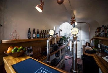 Our Bar including prosecco on tap and craft ales