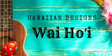Wai Ho'i Hawaiian jewelry designs of earrings and necklaces with island themes