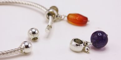 Charms By Nature universal gemstone bracelet and necklace charms. A Chris Wang charms line