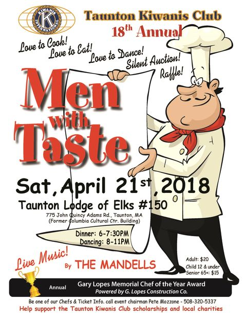 "Don't miss our annual ""MEN WITH TASTE"" event!"