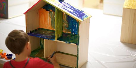 built a house create dream house mansion doll house camp summer art crafts imagination stapleton
