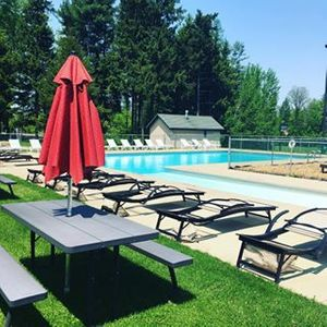 Campground near Presque Isle State Park, Erie PA, Pool Side, Beautiful Pool, Camping, RV Park, Sparrow Pond Family Campground Heated Pool