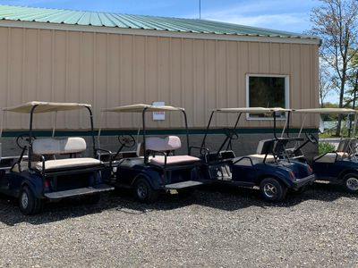 Golf Cart Rentals Available at Sparrow Pond Campground on a first come first serve basis
