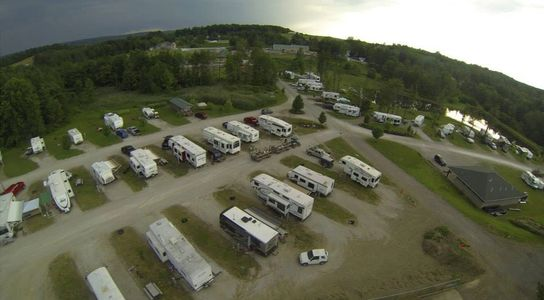 Campground near Presque Isle State Park, Erie PA, RV Park, Sparrow Pond Family Campground, Aerial View of Sparrow Pond Family Campground