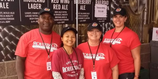 Selling Rohrbach Beer at Red Wings baseball games - what could be a more fun way to raise money!