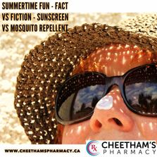 Summertime Fun – Fact versus Fiction about Sunscreen and Mosquito Repellent - Cheetham's Pharmacy