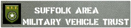 Logo of Suffolk Area Military Vehicle Trust. Military vehicles & equipment both wartime and post war