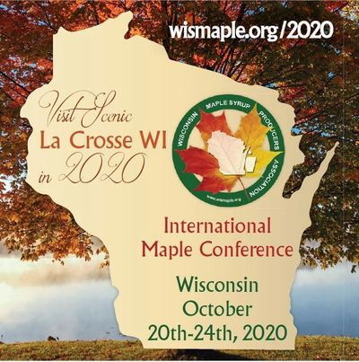 The 2020 International Maple Conference will be held in LaCrosse, WI and hosted by the WMSPA