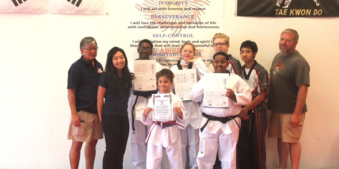 Congratulations to Kylee, Makeal and Jamarius, our newest Black Belts. Also, congratulations to Mica