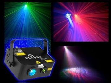 Combines LED and laser in one effect Separate control of laser effect and LED: Laser: rotation direc