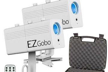 EZGobo is a battery-powered LED gobo projector, that can project a custom image anywhere. Its magnet
