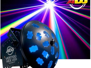 "ADJ is taking the Vertigo HEX LED to the next level powered by two 12-watt ""6-IN-1"" HEX LED technolo"