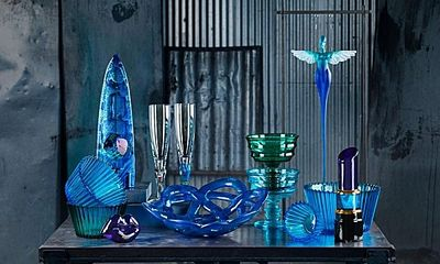 Crystal, art glass, design focused made in Sweden from Kosta Boda