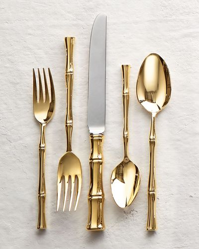 Gold, Bamboo flatware by Ricci Silver