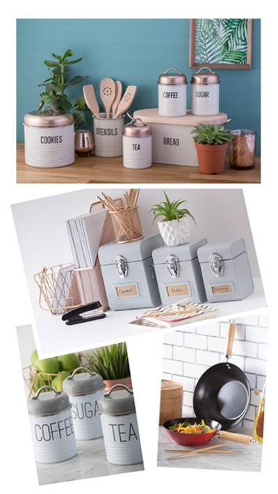 Kitchen storage containers and canisters by Typhoon Homewares.