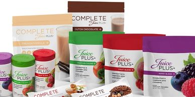 Juice Plus+ Powders and supplements.