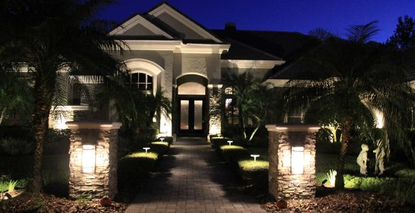 landscape lighting, outdoor lighting, color changing led lights, led landscape lighting, low voltage