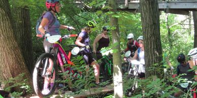 Women's Mountain Bike Instruction @ Canopy Tours, Grand Geneva, Silver Lake Park...