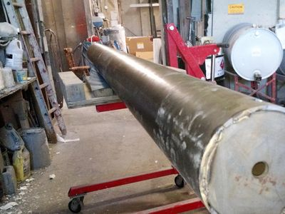 "8"" mandrel and first run tube for Navy drone firing tube"