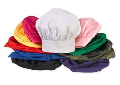 Top Quality Cloth Poly Cotton Twill Chef Hats for Kids! Adjustable Velcro -Embroidery Available!