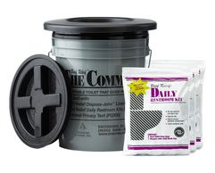 The Brief Relief Commode and BR901 Daily restroom Kit