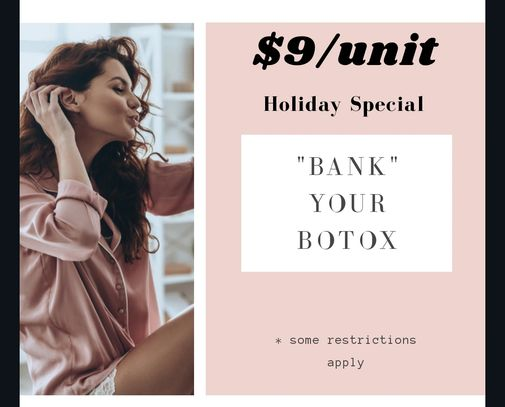$9/unit Bank your Botox Holiday offer at Generations Skincare in Mahomet & Springfield IL with Krist