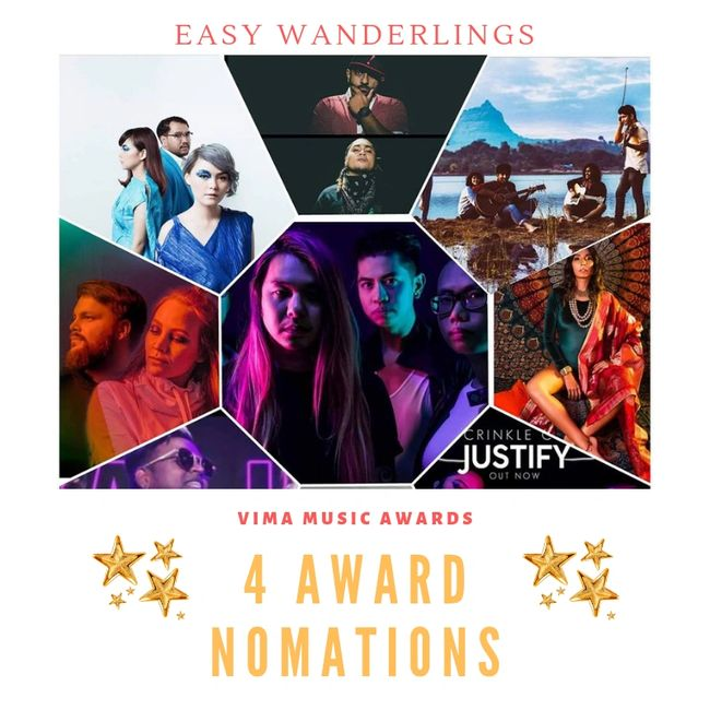 Easy Wanderlings receives 4 award nomination at the VIMA Music Awards in Kuala Lampur