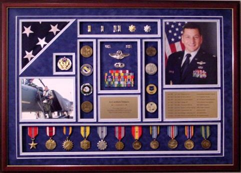 Shadow Box Air-Force Officer