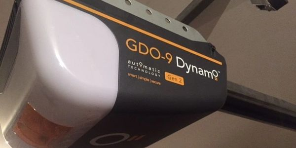 New ATA GDO9 Dynamo Automatic opener Lock N Secure Garage Doors Installaed on a double panel door